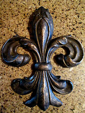 Fleur de Lis Wall Plaque Old World Tuscan Medieval French Country Decor Saints
