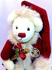 "Knickerbocker Silver Bells St. Nicolas Father Christmas 8"" Jointed Teddy Bear"