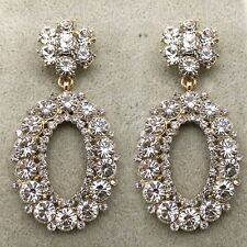 Fashion Large resplendent Circle Earrings Crystal Pearl Earrings CC24