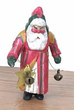 House of Hatten Enchanted Forest Santa Christmas Ornament 1988 HoH Star Bells