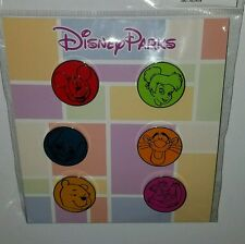 DISNEY PINS CHARACTER HEAD BOOSTER PACK 2016 (COMPLETE SET) NEW