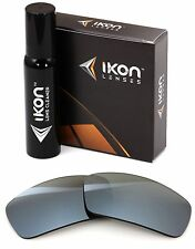 Polarized IKON Iridium Replacement Lenses For Oakley Ten X Silver Mirror