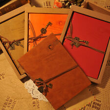 New Vintage Journal Diary Notebook PU Leather Blank Hard Cover Sketchbook Paper
