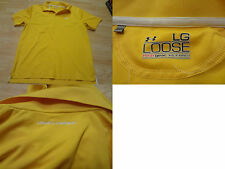 Men's Under Armour L Yellow & White S/S Collared Polo Shirt