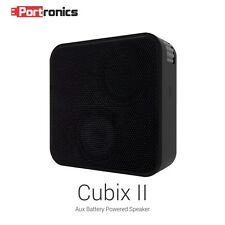 Portronics Cubix II Portable Aux speaker (POR-512) Black