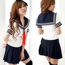 New Ladies Cosplay Japanese School Girl Students Sailor Uniform Anime Costume