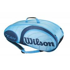 WILSON TEAM BLUE COLLECTION , 9 SCHLÄGER TENNIS BAG AUCH FÜR PADEL , GYM REISE