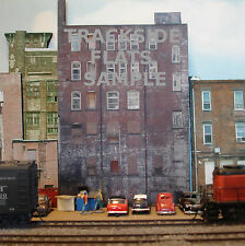 #204 N scale background building flat  BACKSIDE #1  *FREE SHIPPING*