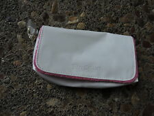 Juicy Couture White Pink Velvet Heart Charm Cosmetic WashBag Makeup Case
