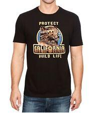 Lucky Brand - Mens L - NWT - Black Protect California Wildlife Bear T-Shirt