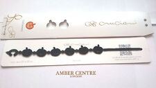 Genuine Italian Made Cruciani Bracelet-PUMPKIN-HALLOWEEN-BLACK LIMITED EDITION!