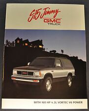 1989 GMC S-15 Jimmy Truck Brochure Sierra Classic 4x4 Excellent Original 89