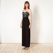 New Lipsy Bandeau Black Lace Top Jumpsuit Sz UK 8 rrp £70