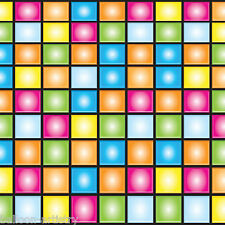Groovy 70's Disco Party Scene Setter Border Roll Decoration - Colour Squares