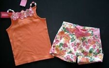 NWT Gymboree coral floral reef orange tank top shirt flower shorts 4 4t 5 5t NEW