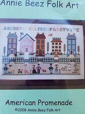 Annie Beez American Promenade Cross Stitch Chart Folk Art Annie Belcher