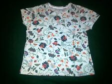 White Stag Dutch Floral Casual Jewel NeckTee Size L* Cotton Blend $8.50