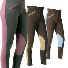 Nicolas Touzaint Ladies Jodhpurs In Chocolate & Beige Size 42-14