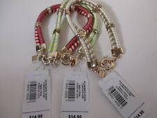 Gap Striped Doube rwo Gold Link Bracelet NWT $14.95 each Set of 3 Colors
