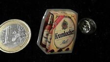 Bier Beer Pin Badge Krombacher Six Pack Flaschen rote Banderole