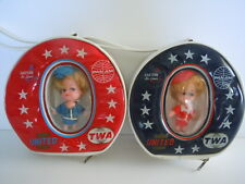 KIDDLE KLONE DOLL AIRLINE PURSES SET OF 2 PAN AM, TWA, UNITED & EASTERN AIRLINES