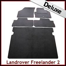 Land Rover Freelander Mk2 2006-2014 Tailored LUXURY 1300g Car & Boot Mats BLACK
