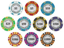 New Bulk Lot 400 Monte Carlo 14g Clay Casino Poker Chips - Pick Chips!