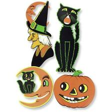 4 Large Retro HALLOWEEN Diecuts VINTAGE Party DECORATIONS American Horror Story