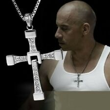 Dominic Toretto's The Fast And Furious 7 Cross Metal Fashion Pendant Necklace