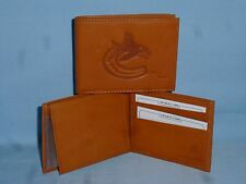 VANCOUVER CANUCKS   Leather BiFold Wallet   NEW   tan