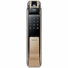 SAMSUNG SHS-P910 Keyless Fingerprint PUSH PULL Digital Smart Door Lock w/ Keys