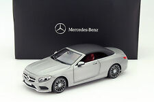 NOREV Mercedes S-Class Convertible (A217) Grey 1:18 DEALER EDITION*New!