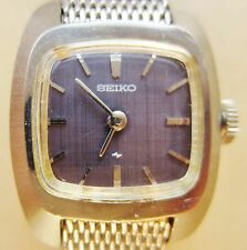 Vintage Ladies Stainless Steel Seiko 17J 11-3490 Bracelet Watch for Sale