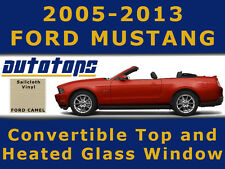 Mustang Convertible Top with Heated Glass Window Camel Vinyl  Install DVD 05-13