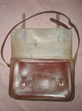 SUPERB RED BROWN LEATHER SCHOOL SATCHEL. (well used)
