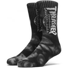 HUF x Thrasher TDS Crystal Wash Crew Sock - Men's Everyday Socks in Black