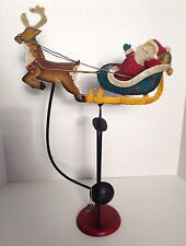 Christmas Decoration Metal Santa Sleigh Reindeer Stand INDONESIA Balance TOY