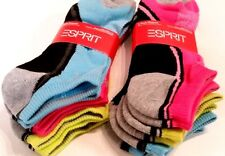 ESPRIT Size 9-11 Women's Ankle Socks 6 Pairs  - New!