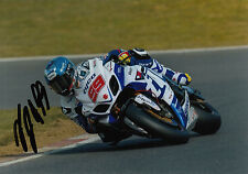 PJ Jacobsen Hand Signed Tyco Suzuki 7x5 Photo BSB 1.