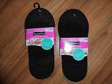 4 pair very low cut no show socks foot liners ~ No Nonsense / mesh  brown