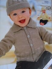 BABIES ~ CARDIGAN/JACKET/4 PLY KNITTING  PATTERN PREMATURE TO 2 YRS OLD  (K126)