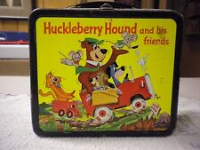 VINTAGE ALADDIN 1961 HUCKLEBERRY HOUND & FRIENDS LUNCHBOX AND THERMOS