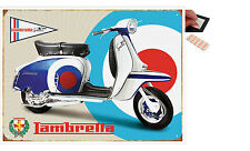 Lambretta SX150 Target Scooter Metal Wall Art Sign