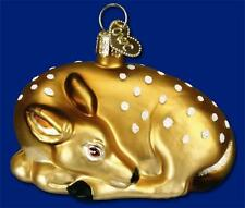 FAWN OLD WORLD CHRISTMAS BLOWN GLASS WILDLIFE DEER BAMBI TYPE ORNAMENT NWT 12201
