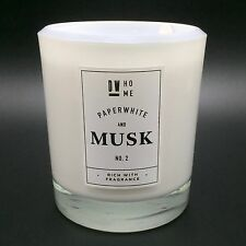 DW Home Paperwhite and Musk Scented Candle in Glass Jar Approx 64 hour Burn Time