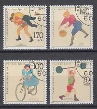 Bund 1499-1502 sauber gest. Sporthilfe 1991 Basketball Gewichtheben Ringen (1)