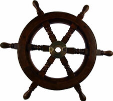 Wooden Captains 39cm Boat / Ship Wheel - Nautical Wall Decoration