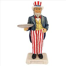 Uncle Sam Butler with Tray Side Table Statue Yankee Doodle
