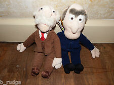 "RARE Disney 17"" Muppets Statler & Waldorf soft plush toy figure old men Henson"
