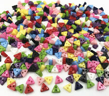 100pcs Mini Mixed Colors triangle Resin Buttons 2 holes sewing scrapbooking